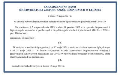ZARZĄDZENIE Nr 13/2021